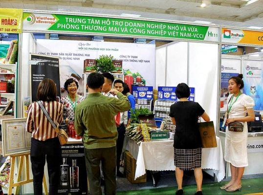 Gian hàng phòng thương mại và công nghiệp Việt Nam (VCCI) tại triển lãm quốc tế Vietfood & Beverage 2019