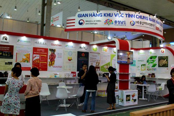 Gian hàng tỉnh Chung Nam Hàn Quốc tại triển lãm quốc tế Vietfood & Beverage 2019