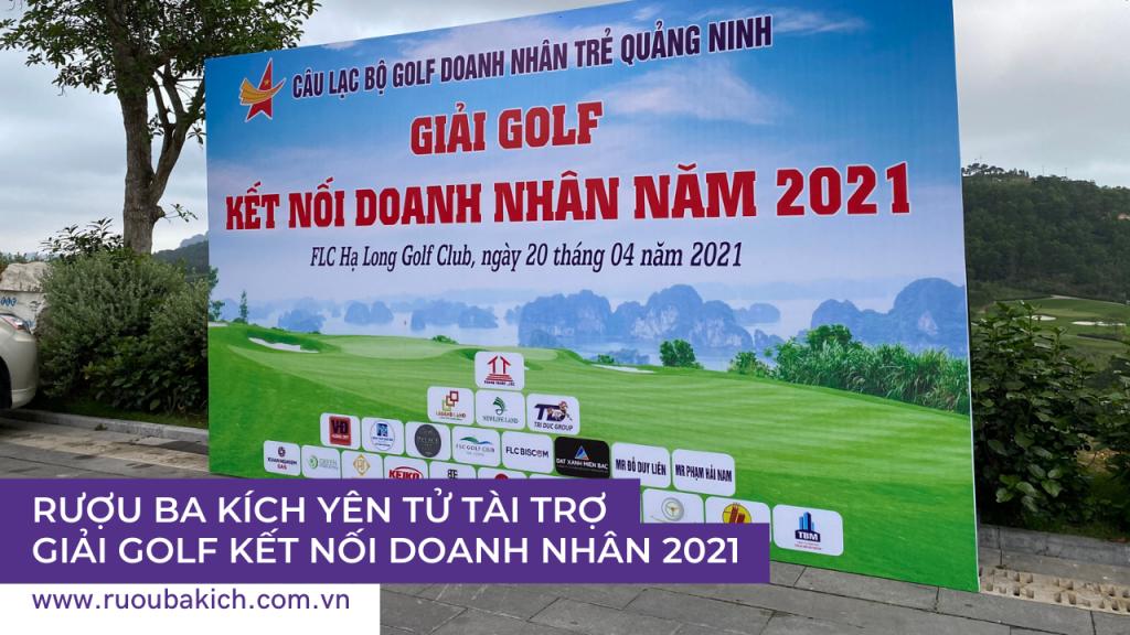 Rượu ba kích Yên Tử tài trợ Giải Golf kết nối doanh nhân 2021