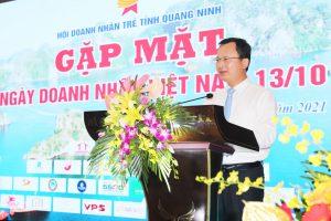 Đồng chí Cao Tường Huy, Phó Chủ tịch Thường trực UBND tỉnh phát biểu tại buổi gặp mặt.